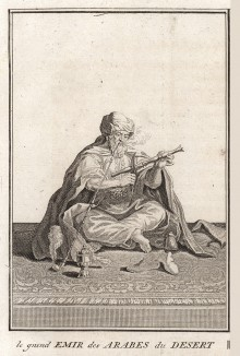 Великий эмир бедуинов (Cérémonies et coutumes religieuses de tous les peuples du monde Бернара Пикара. Париж. 1808 год (Том V. Лист 18))