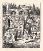 """Королева побагровела от ярости и, сверкнув, словно дикий зверь, на неё глазами, завопила во весь голос: """"Отрубить ей голову! Отрубить…"""" (иллюстрация Джона Тенниела к книге Льюиса Кэрролла «Алиса в Стране Чудес», выпущенной в Лондоне в 1870 году)"""
