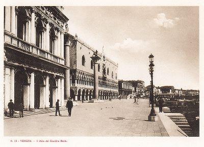 Иль Моло дель Джардино Реале в Венеции.  Ricordo Di Venezia, 1913 год.