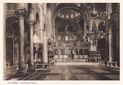 Интерьер собора Сан-Марко в Венеции. Ricordo Di Venezia, 1913 год.