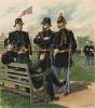 Офицеры американской армии в парадной форме образца 1888 года (лист 39 одной из самых красивых серий хромолитографий конца XIX века, посвящённых военной форме. Издано в Нью-Йорке силами генерал-квартирмейстера армии США)
