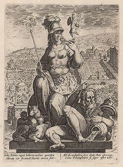Аллегорическое изображение Рима. Гравюра по рисунку Страдануса.