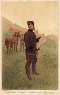 Генерал Генерального штаба швейцарской армии (из альбома хромолитографий L' Armée Suisse... Цюрих. 1894 год)