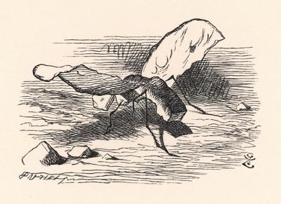 Это вьются Бегемошки. Подумать только -- такие толстые и неповоротливые, а как хорошо летают! (иллюстрация Джона Тенниела к книге Льюиса Кэрролла «Алиса в Зазеркалье», выпущенной в Лондоне в 1870 году)