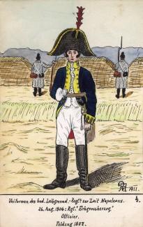 1806-07 гг. Офицер лейб-гренадерского полка Великого герцогства Баден. Коллекция Роберта фон Арнольди. Германия, 1911-29