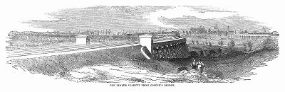 Виадук британской железной дороги, построенный с применением деревянных конструкции для оптимизации расходов инженерами Томасом Грисселом (1801 -- 1874 гг.) и Сэром Сэмюэлем Пето (1809 -- 1889 гг.) (The Illustrated London News №105 от 04/05/1844 г.)
