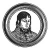 """Жан Ланн (1769-1809) - ровесник Бонапарта, сын конюха, в итальянской кампании дважды спас Наполеону жизнь, маршал Франции (1804), """"Роланд французской армии"""" и герцог де Монтебелло. Илл. к пьесе С.Гитри """"Наполеон"""", Париж, 1955"""