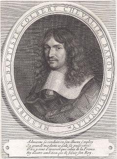 Жан-Батист Кольбер (1619--1683) - французский государственный деятель, суперинтендант Франции, создатель французского торгового и военного флотов и новой налоговой системы.