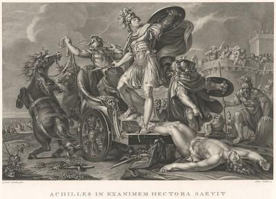 Ахиллес и Гектор. С оригинала Гевина Гамильтона, известного шотландского живописца и археолога.