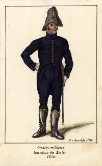 1810 г. Инспектор хорватской военной школы Великой армии Наполеона. Коллекция Роберта фон Арнольди. Германия, 1911-29