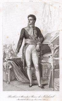 Луи Александр Бертье (1753-1815), маршал Франции с 1804 года. Galerie des Marechaux de France par Ch. Gavard, Париж, 1839 год.