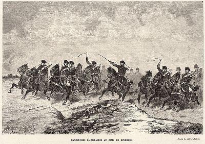 Артиллерийские маневры в лагере Беверлоо.