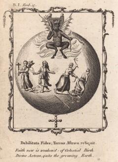 """Вера сейчас ослабела (из бестселлера XVII -- XVIII веков """"Символы божественные и моральные и загадки жизни человека"""" Фрэнсиса Кварльса (лондонское издание 1788 года))"""