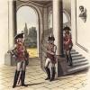 Дворцовый караул 13-го полка прусской конной гвардии в 1797 году (из популярной в нацистской Германии работы Мартина Лезиуса Das Ehrenkleid des Soldaten... Берлин. 1936 год)