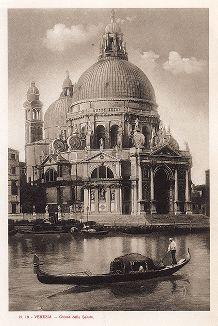 Собор Санта-Мария делла Салюте в Венеции. Ricordo Di Venezia, 1913 год.