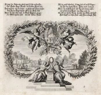 Товий приносит жертвы (из Biblisches Engel- und Kunstwerk -- шедевра германского барокко. Гравировал неподражаемый Иоганн Ульрих Краусс в Аугсбурге в 1694 году)