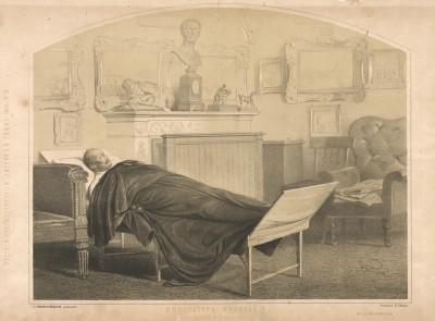 Император Николай I, в бозе почивший 27 февраля 1857 года. С высочайшего соизволения рисовал В. Тимм. Русский художественный листок, №12, 1855
