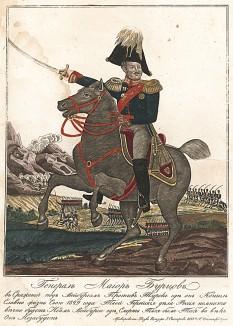 Бурцов Иван Григорьевич (1794-1829). В 1813-14 гг. сражался при Дрездене, Доне, Кайтице, Плауене и Гамбурге, полковник (1822), георгиевский кавалер (1828), генерал-майор (1829). Смертельно ранен 19.7.1829 в сражении с турецкими войсками при Байбурте