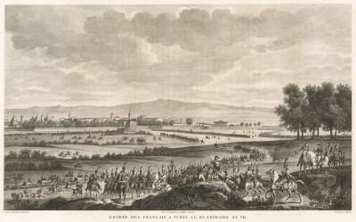 Вход французской армии в город Турин 10 декабря 1798 г. Tableaux historiques des campagnes d'Italie depuis l'аn IV jusqu'á la bataille de Marengo. Париж, 1807