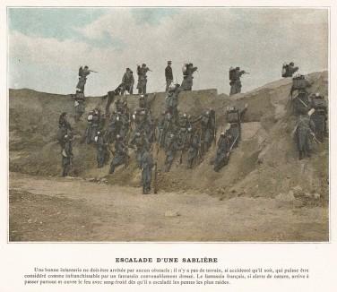Преодоление препятствия. L'Album militaire. Livraison №2. Infanterie. Serviсe en campagne. Париж, 1890