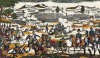 """Сражение при Маренго 14 июня 1800 года. Илл. к пьесе С.Гитри """"Наполеон"""". Репринт ксилографии Ф.Жоржена.  Париж, 1955"""