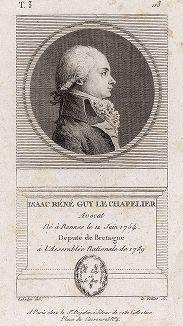 Исаак Рене Ги Ле Шапелье (1754-1794) - французский адвокат и политик.