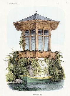 Парковый павильон. Habitations Champêtres..., Париж, 1855 год