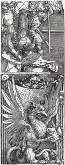 Барабанщик и гриф (деталь дюреровской Триумфальной арки императора Максимилиана I)