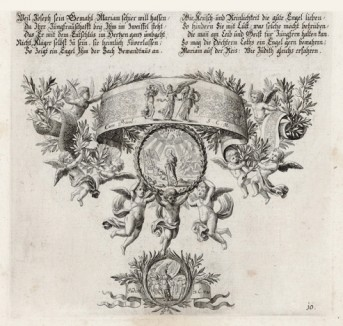 Богоматерь (из Biblisches Engel- und Kunstwerk -- шедевра германского барокко. Гравировал неподражаемый Иоганн Ульрих Краусс в Аугсбурге в 1694 году)