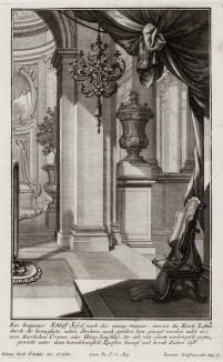 Бронзовая люстра в стиле pококо. Johann Jacob Schueblers Beylag zur Ersten Ausgab seines vorhabenden Wercks. Нюрнберг, 1730