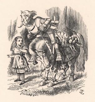 Стоило Коню остановиться (а он то и дело останавливался), как Рыцарь тут же летел вперед, а когда Конь снова трогался с места (обычно он делал это рывком), Рыцарь тотчас падал назад («Алиса в Зазеркалье»)