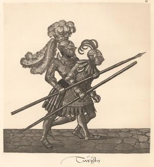 Из Freydal. Des Kaisers Maximilian I. Turniere und Mummereien (Репринт 1882 года. Вена. Лист 47)