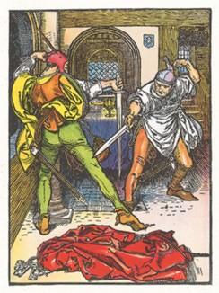 """Обложка сборника """"Веселые приключения Робина Гуда"""" Говарда Пайла, изданного в 1883 году."""