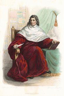 Шарль де Монтескьё (1689-1755) - французский писатель и правовед. Лист из серии Le Plutarque francais..., Париж, 1844-47 гг.