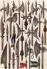 Копья, протазаны, алебарды и другое оружие XIII--ХVI вв. (из Les arts somptuaires... Париж. 1858 год)