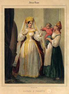 """Наряд (лист 17 """"Русского альбома"""", изданного в Париже в 1848 году)"""