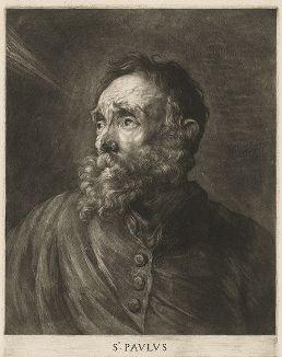 Апостол Павел. Меццо-тинто Абрахама Блотелинга с оригинала Антониса ван Дейка, ок. 1680-90 гг.