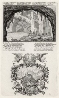 1. Пророк Илья побеждает жреца Ваала 2. Ахав и Илья перед виноградником Навуфея (из Biblisches Engel- und Kunstwerk -- шедевра германского барокко. Гравировал неподражаемый Иоганн Ульрих Краусс в Аугсбурге в 1700 году)