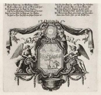 Апостол Павел на пути в Иерусалим (из Biblisches Engel- und Kunstwerk -- шедевра германского барокко. Гравировал неподражаемый Иоганн Ульрих Краусс в Аугсбурге в 1694 году)