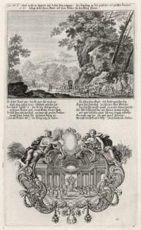1. Переселение Иакова 2. Иосиф и фараон (из Biblisches Engel- und Kunstwerk -- шедевра германского барокко. Гравировал неподражаемый Иоганн Ульрих Краусс в Аугсбурге в 1700 году)