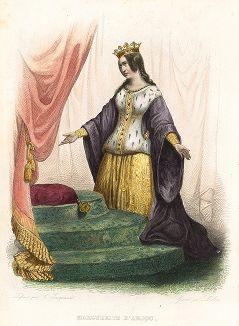 Маргарита Анжуйская (1430-1482) - королева-консорт Англии при Генрихе VI. Лист из серии Le Plutarque francais..., Париж, 1844-47 гг.