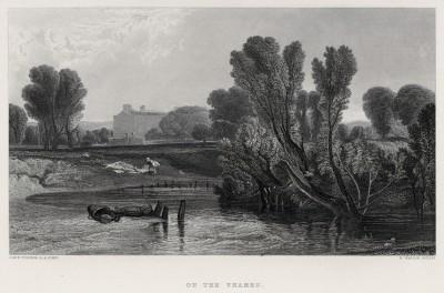 """На Темзе (лист из альбома """"Галерея Тёрнера"""", изданного в Нью-Йорке в 1875 году)"""