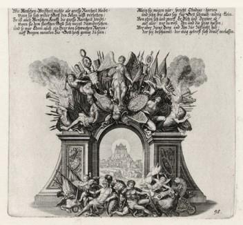 Пророчество Авдия (из Biblisches Engel- und Kunstwerk -- шедевра германского барокко. Гравировал неподражаемый Иоганн Ульрих Краусс в Аугсбурге в 1700 году)