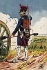 1809 г. Канонир полевой артиллерии Великой армии Наполеона у орудия. Коллекция Роберта фон Арнольди. Германия, 1911-29