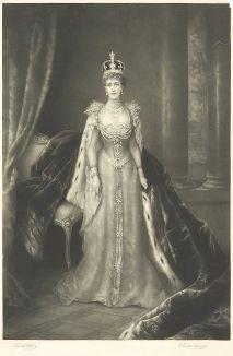 Александра Датская (1844-1925) - королева-консорт Великобритании и Ирландии и императрица-консорт Индии.