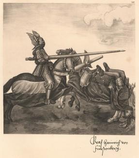 Из Freydal. Des Kaisers Maximilian I. Turniere und Mummereien (Репринт 1882 года. Вена. Лист 240)