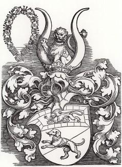 Альбрехт Дюрер. Герб знатного жителя Нюрнберга Лоренца Штайбера