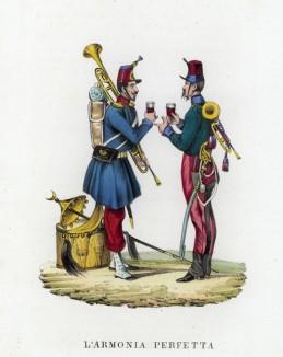За высшую гармонию! (иллюстрация к L'Africa francese... - хронике французских колониальных захватов в Северной Африке, изданной во Флоренции в 1846 году)