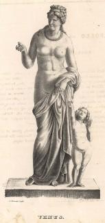 Статуя Венеры работы скульптора Бенедикта Эрланда Фогельберга (1787-1854). Stockholm forr och NU. Стокгольм, 1837