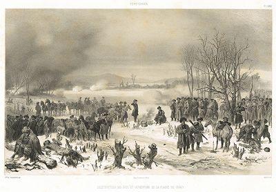 20 января 1850 г. Рубка просеки к Шали в ходе Кавказской войны.  л. LXXIX